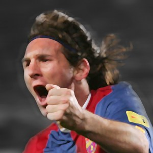 Lionel Messi Canvas Print 02