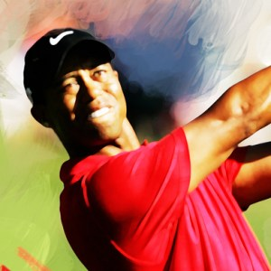 Tiger Woods Painting 01