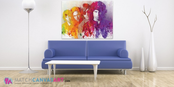 Jim Morrison Colour Art canvas print