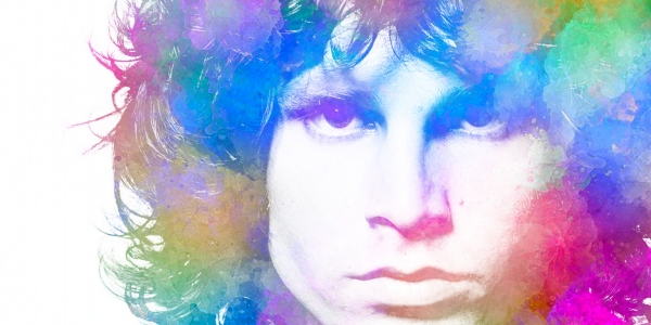 Jim Morrison Colour canvas art print
